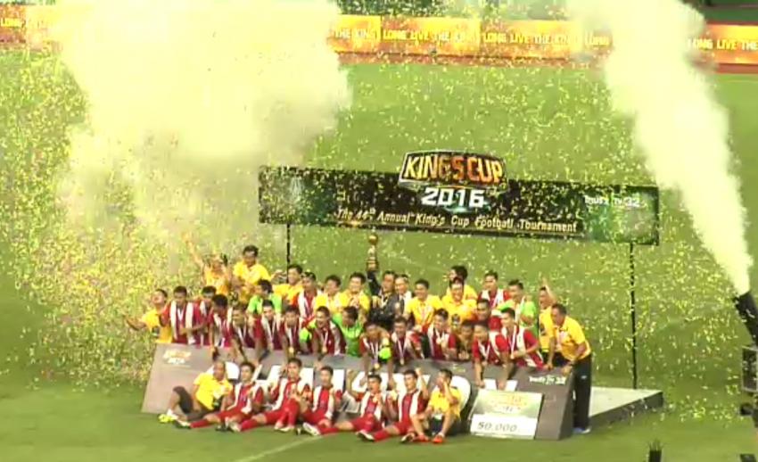 ประมวลภาพบรรยากาศทีมชาติไทยคว้าแชมป์ฟุตบอลคิงส์คัพ สมัยที่ 14