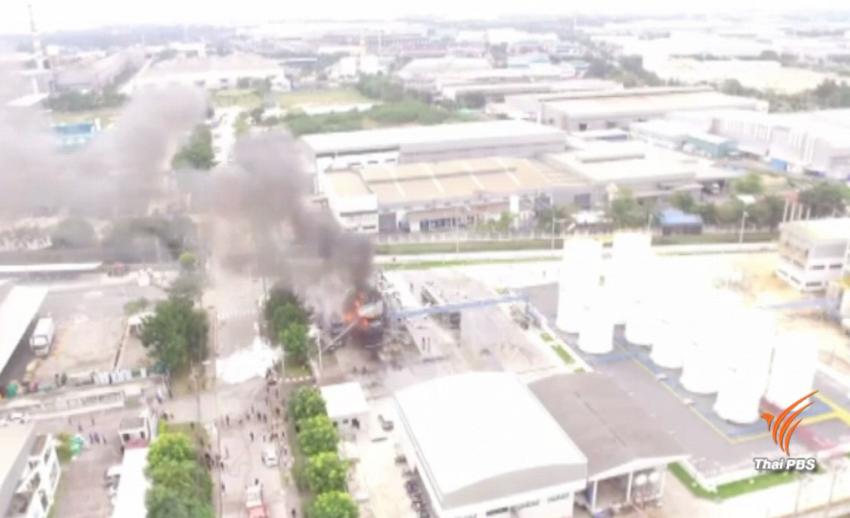 ผู้ว่าฯ กนอ.สั่งปิดโรงงานนาน 30 วัน หลังเกิดเหตุเพลิงไหม้รถบรรทุกน้ำมัน