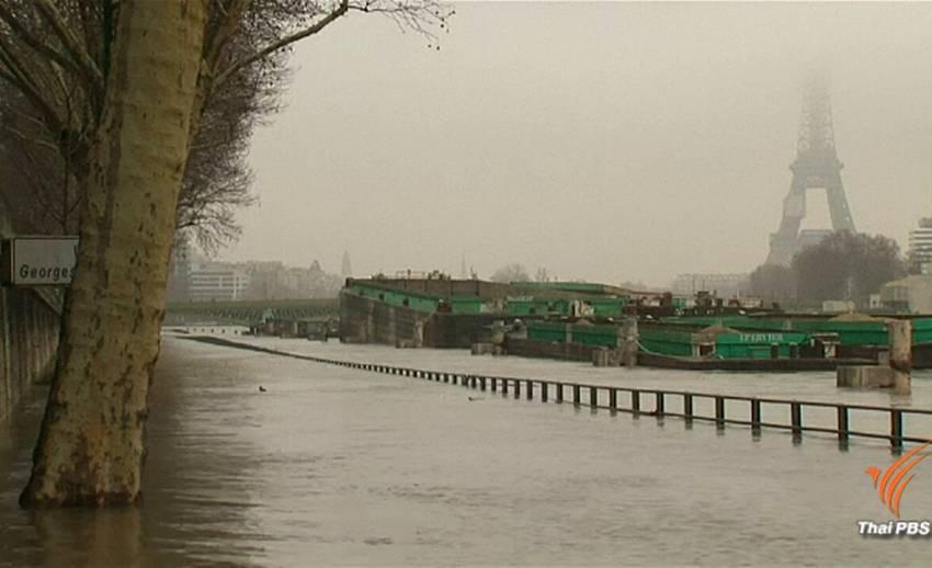 นายกเทศมนตรีกรุงปารีส ห่วงน้ำแม่น้ำแซนเอ่อล้นสูงขึ้น