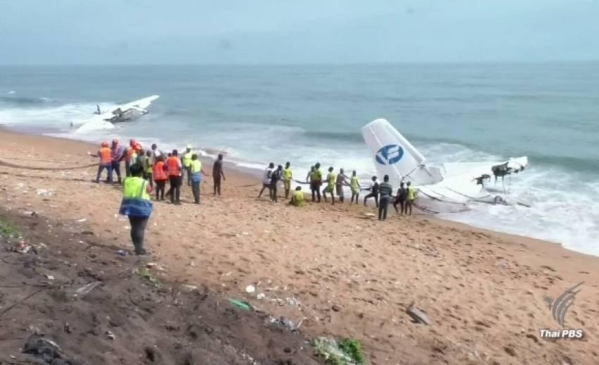 เครื่องบินขนส่งตกทะเลในไอวอรีโคสต์ เสียชีวิต 4