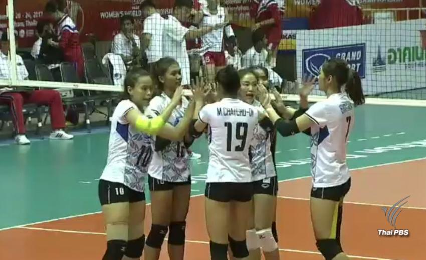 ทีมวอลเลย์บอลหญิงไทย ชนะ เกาหลีเหนือ 3-0 เซต คว้าสิทธิ์ไปแข่งศึกชิงแชมป์โลก 2018