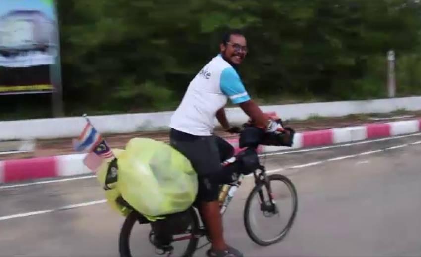 หนุ่มยะลาปั่นตามฝันผ่าน 11 ประเทศอาเซียน กว่า 12,000 กม. ถึงไทย