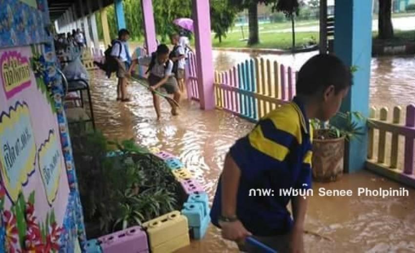 """ฤทธิ์พายุโซนร้อน""""ตาลัส"""" ส่งผลฝนตกน้ำท่วมภาคเหนือ"""