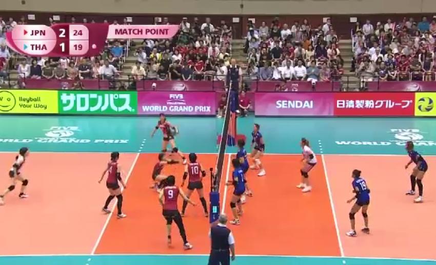 ทีมนักตบลูกยางสาวไทย แพ้ญี่ปุ่น 1-3 เซต