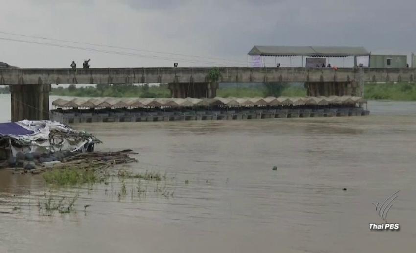 กองทัพเรือ ติดตั้งเครื่องผลักดันน้ำ 35 เครื่อง เร่งเคลียร์น้ำก้อนใหญ่ลงแม่น้ำโขง