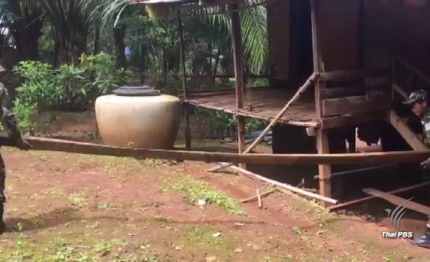 ค้นพบไม้แดง-ไม้ข้าวหลาม ซุกซ่อนบ้านชาวเมียนมา คาดลักลอบตัดจากอุทยานฯ เขาแหลม