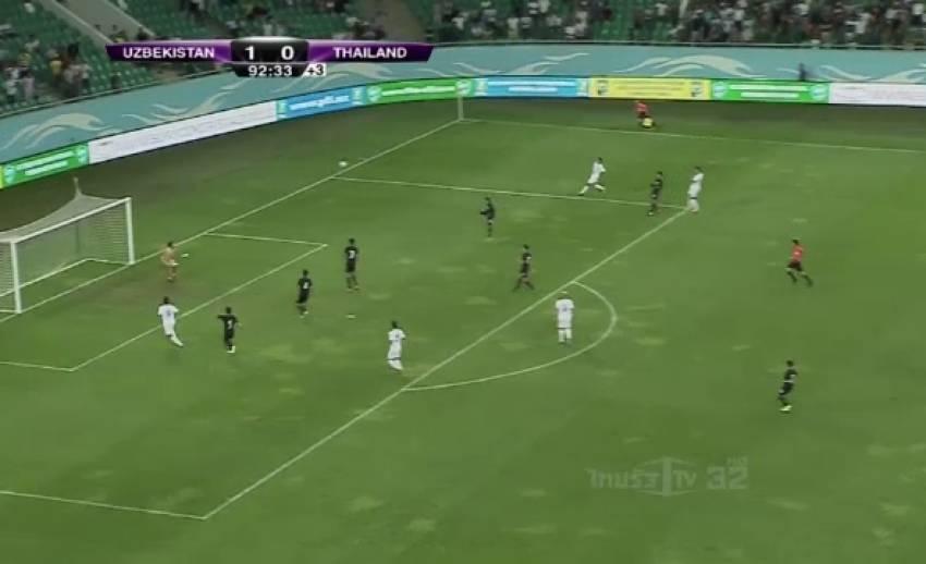 """ทีมชาติไทย บุกพ่าย อุซเบกิสถาน 2-0 ประเดิมนัดแรกยุค """"ราเยวัช"""""""
