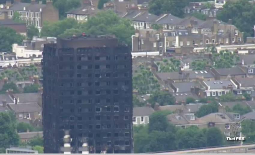 พบเพิ่มร่างผู้เสียชีวิต 58 คนเหตุไฟไหม้ตึกลอนดอน