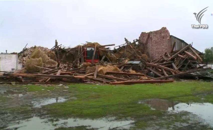 พายุพัดถล่มโปแลนด์ ผู้เสียชีวิต 5 คน