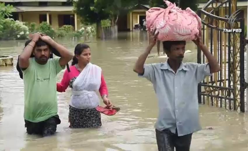 เสียชีวิตแล้วกว่า 90 คน น้ำท่วม-ดินถล่มในอินเดียและเนปาล