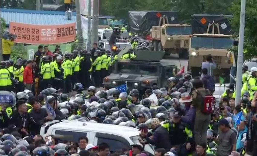 ชาวเกาหลีใต้ประท้วงติดตั้งระบบต่อต้านขีปนาวุธ