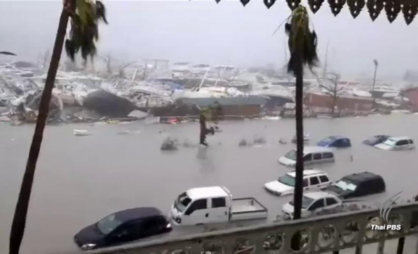 """""""พายุเฮอร์ริเคนเออร์มา"""" รุนแรงสูงสุด มุ่งหน้าถล่มรัฐฟลอริดาสุดสัปดาห์นี้"""
