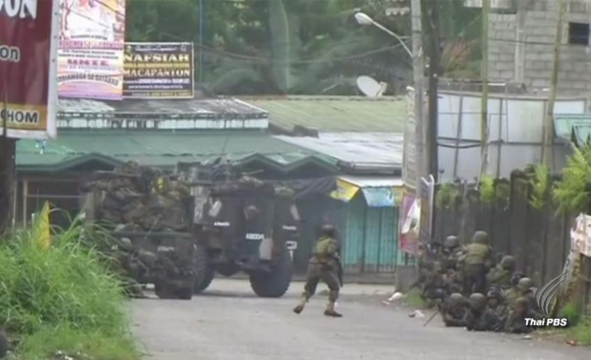 ทหารฟิลิปปินส์ยิงปะทะกลุ่มก่อการร้ายในมาราวี