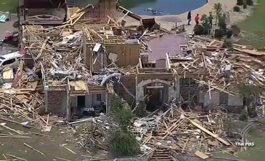 พายุทอร์นาโดพัดถล่มรัฐเท็กซัส เสียชีวิตแล้ว 5 คน