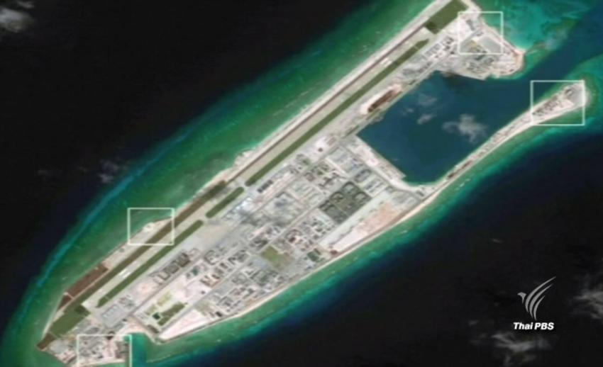 สหรัฐฯ ชี้จีนสร้างสิ่งปลูกสร้างเก็บขีปนาวุธในทะเลจีนใต้