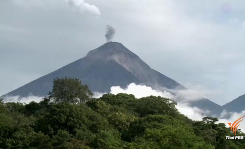 ภาพนาทีระทึก! ภูเขาไฟกัวเตมาลาปะทุ