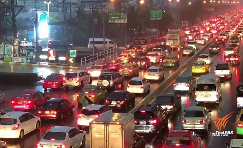 เช้านี้ กรุงเทพฯฝนตกหนัก การจราจรติดขัดหลายพื้นที่
