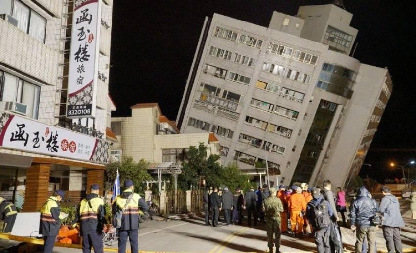 """ชี้แผ่นดินไหว  6.4 """" ไต้หวัน"""" เกิดการเลื่อนตัวแบบเฉือนด้านข้างผสมแนวดิ่งแบบย้อน"""