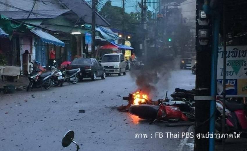 เกิดเหตุระเบิดหลายจุดใน อ.สุไหงโก-ลก เบื้องต้นเจ็บ 2
