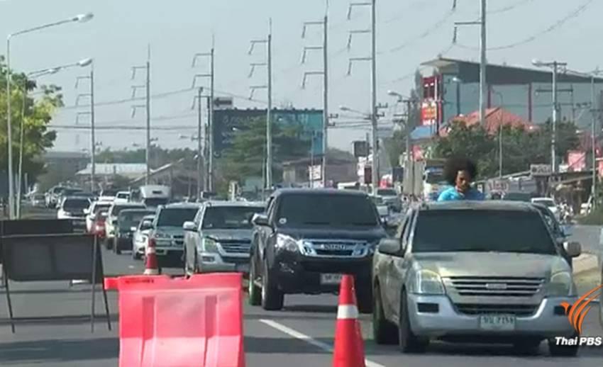 ปชช.ทยอยออกจากกรุงเทพฯ ทำถนนมิตรภาพรถติดยาว