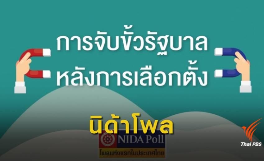 """ผล """"นิด้าโพล"""" อยากให้ """"เพื่อไทย"""" จับขั้ว """"อนาคตใหม่"""""""