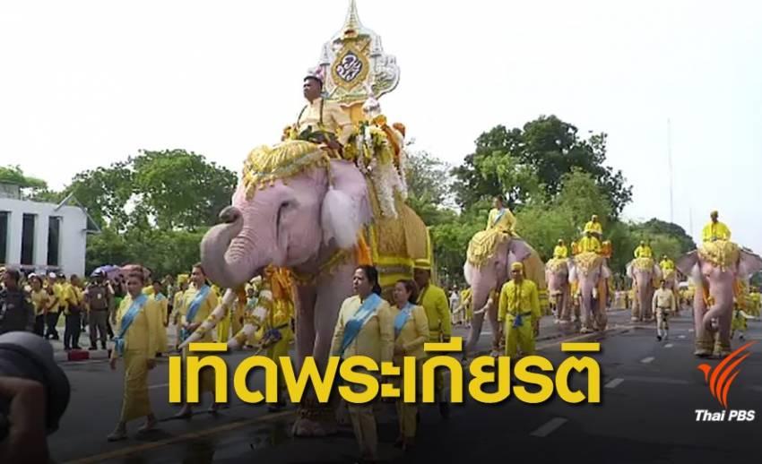 ช้างงาม 11 เชือกถวายพระพรชัยมงคล รัชกาลที่ 10