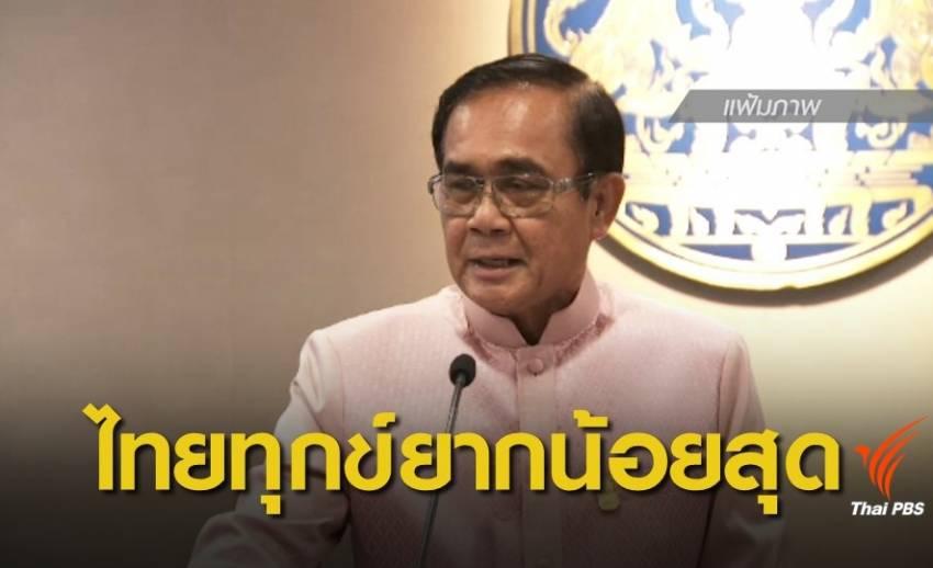 นายกฯ พอใจไทยรั้งอันดับ 1 ประเทศที่มีความทุกข์ยากน้อยที่สุด