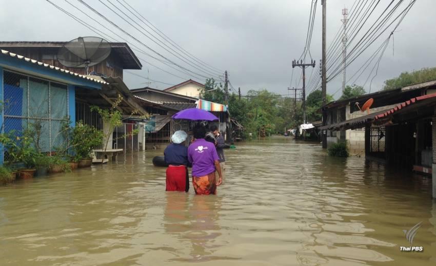 จ.นราธิวาส น้ำยังท่วมสูง - ระดับน้ำแม่น้ำสุไหงโก-ลก ยังทรงตัว