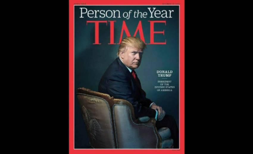 """นิตยสารไทม์ ยกย่อง """"โดนัลด์ ทรัมพ์"""" เป็นบุคคลแห่งปี 2016"""