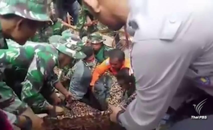 ยอดผู้เสียชีวิตแผ่นดินไหวอินโดนีเซียพุ่งสูงเกือบ 100 คน