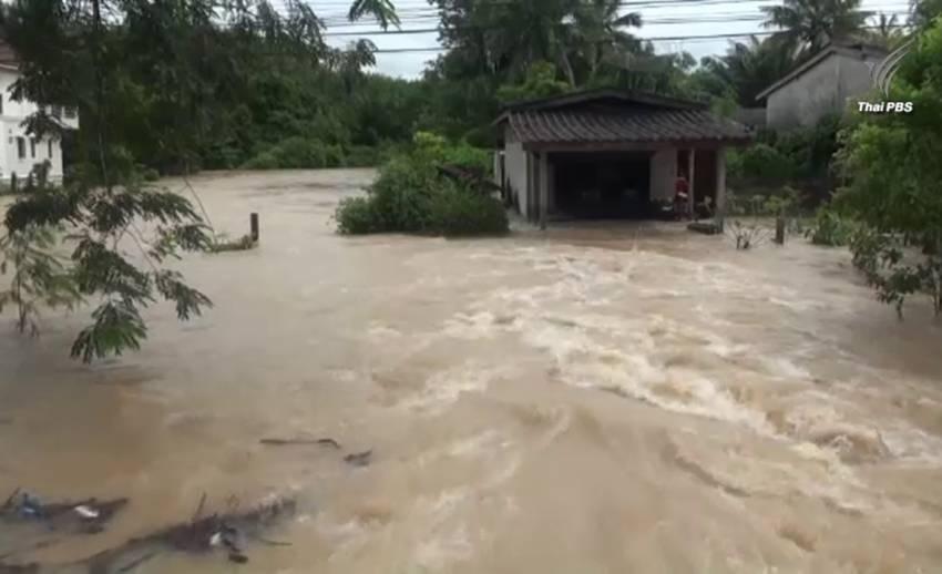 น้ำป่าไหลหลากท่วมนครศรีฯ เด็ก 5 ขวบจมน้ำเสียชีวิต