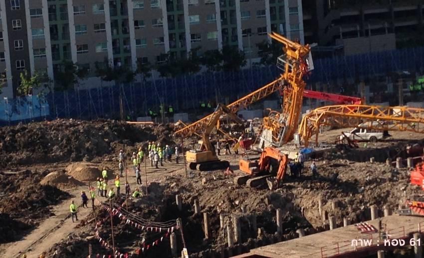 เครนก่อสร้างถล่มใกล้ รพ.ปิยะเวท คนงานดับ 5