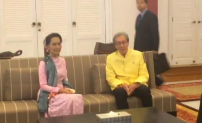 """""""ออง ซาน ซู จี"""" เยือนไทยอย่างเป็นทางการ-ขอบคุณรัฐบาลต้อนรับอบอุ่น"""