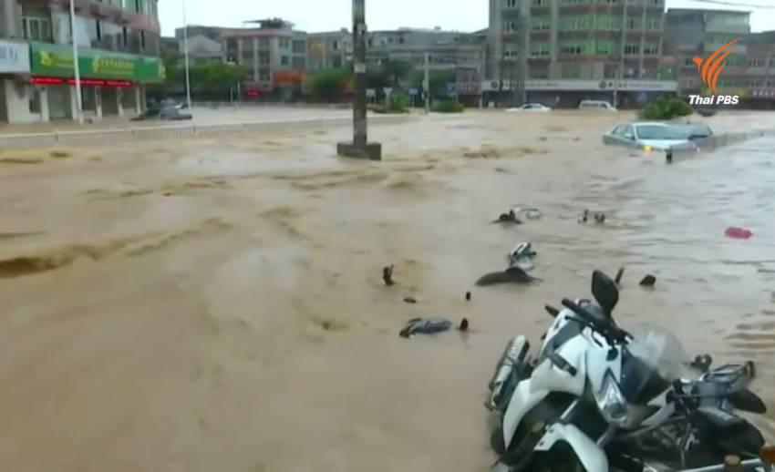 """พายุ """"เนพาร์ตัก"""" พัดเข้า มณฑลฟูเจี้ยน อพยพประชาชน 2.3 แสนคน"""