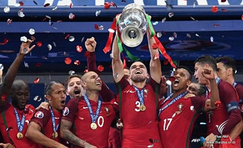 โปรตุเกสเฉือนชนะฝรั่งเศส 1-0  คว้าแชมป์ยูโร 2016