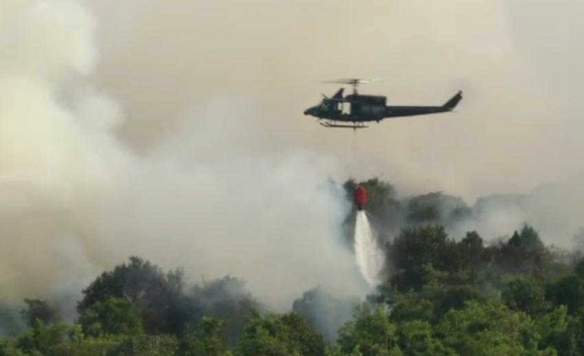 กองทัพภาคที่ 4 ปรับแผนใช้เฮลิคอปเตอร์ดับไฟป่าใน จ.นราธิวาส