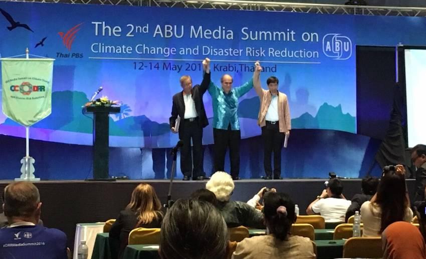 ไทยพีบีเอส-ABU ลงนามปฏิญญากระบี่ เน้นบทบาทสื่อให้ข้อมูลข่าวสาร-สถานการณ์ลดสูญเสียภัยพิบัติ