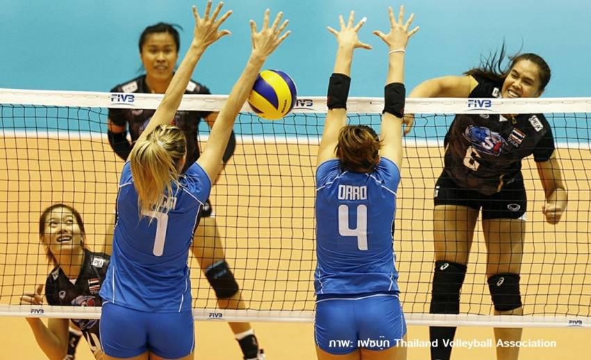 วอลเลย์บอลสาวไทยพ่ายอิตาลี 1-3 เซต คัดเลือกโอลิมปิกนัดที่ 2