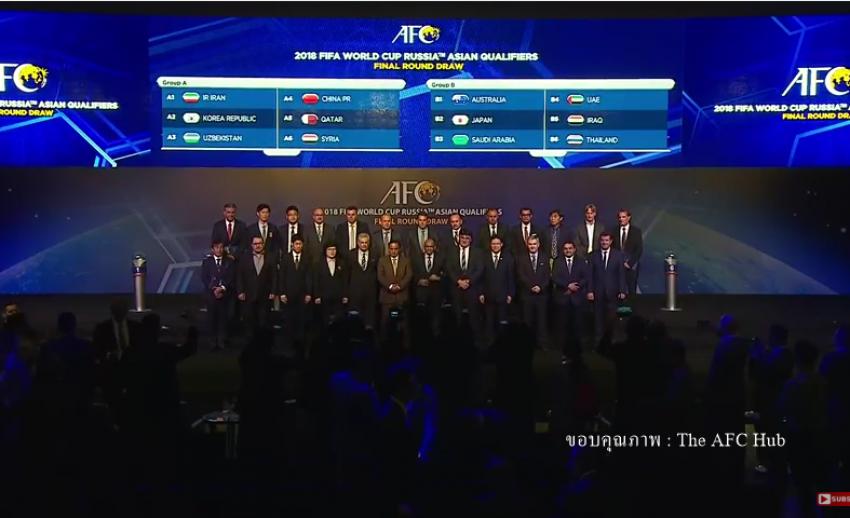 """ทีมชาติไทยพบศึกหนักฟุตบอลโลก อยู่ร่วมกลุ่มบี """"ออสเตรเลีย-ญี่ปุ่น-อิรัก"""""""