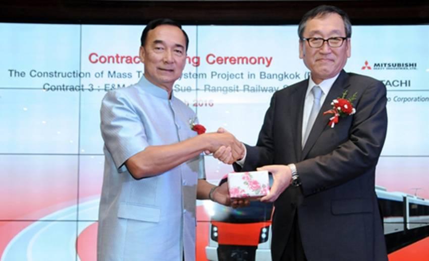 ก.คมนาคมลงนามร่วมเอกชนญี่ปุ่นโครงการรถไฟสายสีแดง