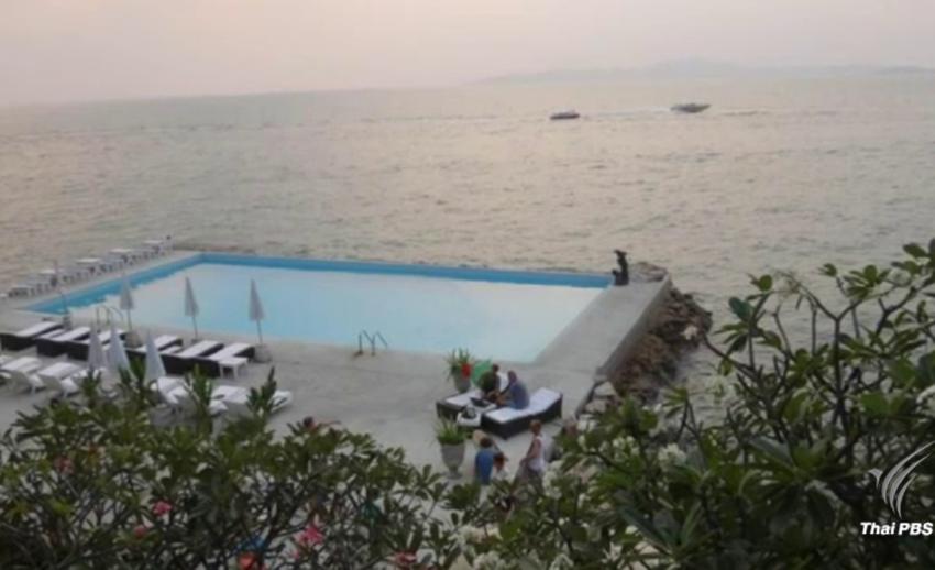 แจ้งข้อหาโรงแรมพัทยาสร้างสระว่ายน้ำยื่นไปในทะเล ประกอบธุรกิจโรงแรมไม่ได้รับอนุญาต