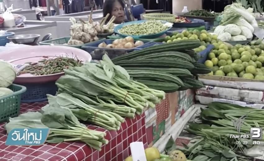 น้ำท่วมแปลงผักทำราคาผักพุ่งกว่าร้อยละ 20