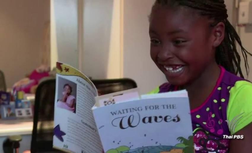 """ชวนอ่าน """"Waiting for the Waves"""" นิยายจากนักเขียนตัวน้อยในวัย 7 ปี"""