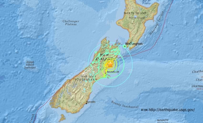 ด่วน! แผ่นดินไหว ขนาด 7.4 ใกล้เมืองไครสต์เชิร์ช นิวซีแลนด์