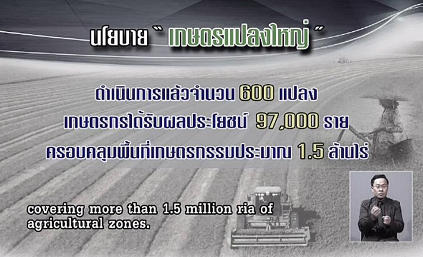 """นายกฯ เชื่อ """"เกษตรแปลงใหญ่"""" คือทางออก ตั้งเป้าขยายเป็น 1,000 แปลงในปี 60"""