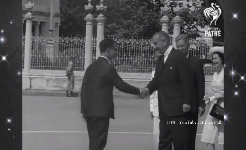 """เปิดภาพประวัติศาสตร์ """"ในหลวง-ราชินี"""" ต้อนรับ ปธน.สหรัฐฯ คนแรกที่เยือนไทย"""