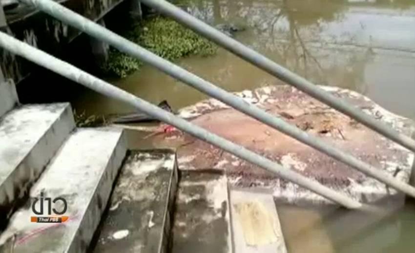 จนท.เก็บตัวอย่างน้ำแม่น้ำแม่กลองหาสาเหตุกระเบนตาย
