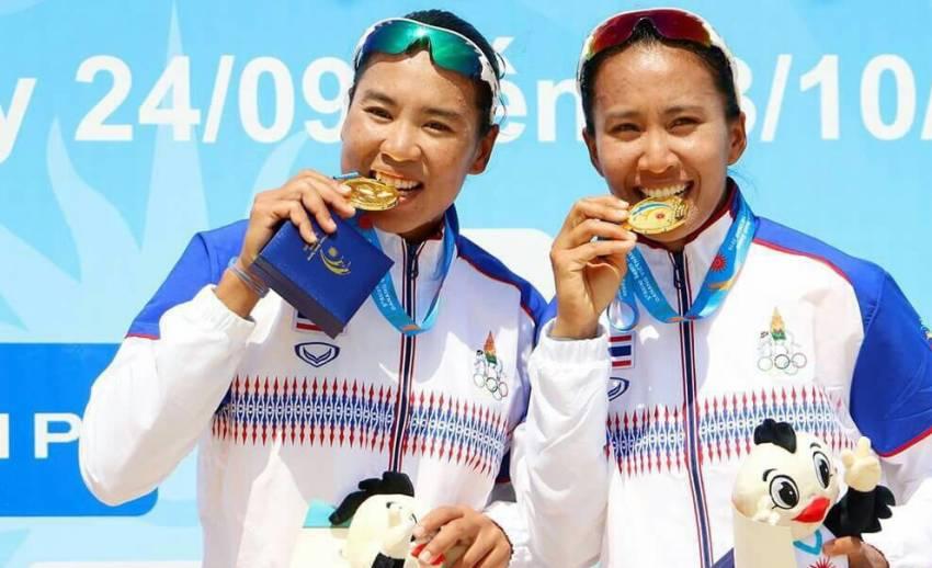 วอลเลย์บอลชายหาดสาวไทยคว้าแชมป์เอเชียนบีชเกมส์