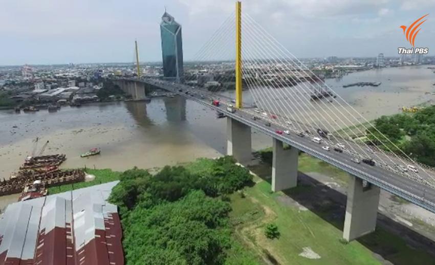 กทพ.โชว์ทดสอบสะพานพระราม 9 แห่งใหม่ รับแรงลม 400 กม./ชม.คาดสร้างปี '60