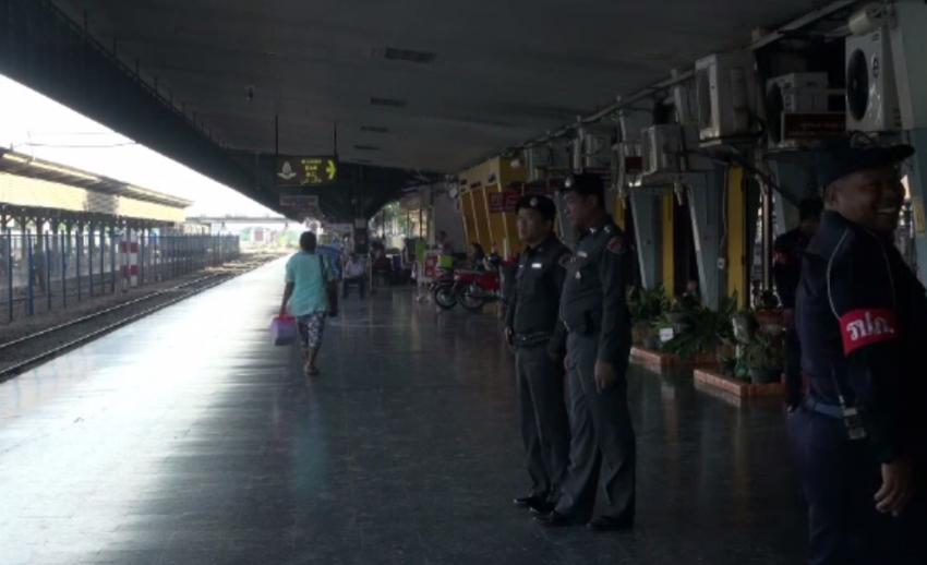 จนท.เพิ่มมาตรการเฝ้าระวังรถไฟสายใต้ หลังเหตุระเบิดขบวนรถไฟ